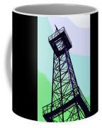 Oil Derrick In Green Coffee Mug