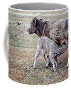Oil Paint Look Cow And Calf Portrait Usa Coffee Mug