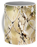 Oil Painting - A Cross Link Fence Coffee Mug