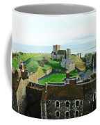 Oil Painting - Aerial View Of Dover Castle Coffee Mug