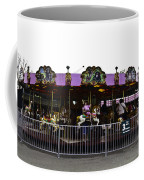 Oil Painting - Children And Adults At The Merry Go Round Inside The Blair Drumm Coffee Mug