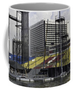 Oil Painting - Floating Platform And Construction Site In The Marina Bay Area Coffee Mug