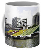 Oil Painting - Floating Platform In The Marina Bay Area In Singapore Coffee Mug