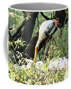 Oil Painting - Mama Stork Feeding Young Coffee Mug