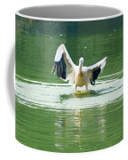 Oil Painting - Pelican Flapping Its Wings Coffee Mug