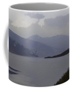 Oil Painting - Rugged Outdoors And Waters Of A Loch In The Scottish Highlands Coffee Mug