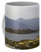 Oil Painting - Rugged Shoreline And Waters Of A Loch In The Scottish Highlands Coffee Mug