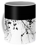 Oil Painting - Small Plant Branches Falling Over A Ledge - Horizontal Coffee Mug