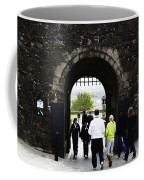 Oil Painting - Staff And Tourists At The Entrance Of Stirling Castle Coffee Mug