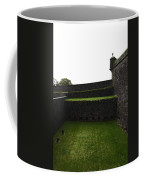 Oil Painting - The Depth Of The Moat Now Covered With Grass At Stirling Castle Coffee Mug