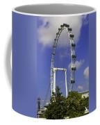 Oil Painting - The Wheel Of Singapore Flyer Coffee Mug