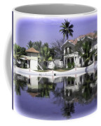 Oil Painting - View Of The Cottages And Palm Trees Coffee Mug