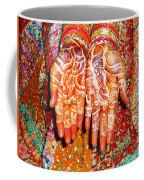 Oil Painting - Wonderfully Decorated Hands Of A Bride Coffee Mug