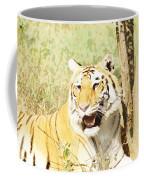 Oil Painting - An Alert Tiger Coffee Mug