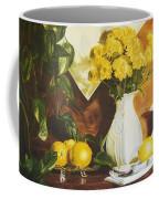 oil painting print of art for sale Golden Lemons  Coffee Mug