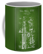 Oil Well Pump Patent From 1912 - Green Coffee Mug