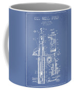 Oil Well Pump Patent From 1912 - Light Blue Coffee Mug