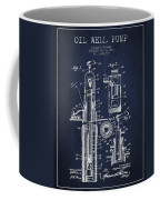 Oil Well Pump Patent From 1912 - Navy Blue Coffee Mug