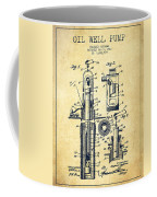 Oil Well Pump Patent From 1912 - Vintage Coffee Mug