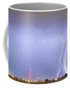 Oil Well Pumpjack Thunderstorm Panorama Coffee Mug