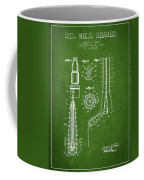 Oil Well Reamer Patent From 1924 - Green Coffee Mug