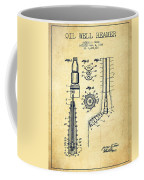 Oil Well Reamer Patent From 1924 - Vintage Coffee Mug