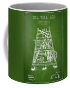 Oil Well Rig Patent From 1893 - Green Coffee Mug