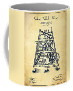 Oil Well Rig Patent From 1893 - Vintage Coffee Mug