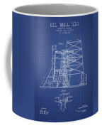 Oil Well Rig Patent From 1917 - Blueprint Coffee Mug