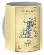 Oil Well Rig Patent From 1917- Vintage Coffee Mug