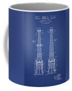 Oil Well Rig Patent From 1927 - Blueprint Coffee Mug