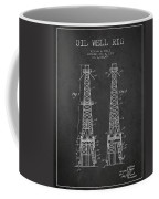 Oil Well Rig Patent From 1927 - Dark Coffee Mug