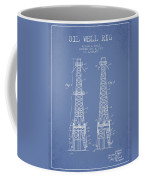 Oil Well Rig Patent From 1927 - Light Blue Coffee Mug