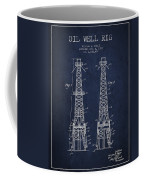 Oil Well Rig Patent From 1927 - Navy Blue Coffee Mug
