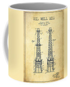 Oil Well Rig Patent From 1927 - Vintage Coffee Mug