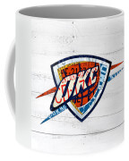 Okc Thunder Basketball Team Retro Logo Vintage Recycled Oklahoma License Plate Art Coffee Mug