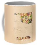 Oklahoma Map Vintage Watercolor Coffee Mug