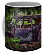 Old Abandoned Car In The Woods Coffee Mug