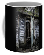 Old Abandoned Well House With Door Ajar Coffee Mug by Edward Fielding