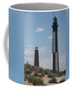 Old And New Cape Henry Lights Together Coffee Mug