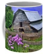 Old Barn And Flowers Coffee Mug