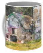 Old Barn And Silos Digital Paint Coffee Mug