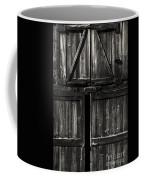 Old Barn Door - Bw Coffee Mug