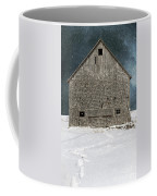 Old Barn In A Snow Storm Coffee Mug by Edward Fielding