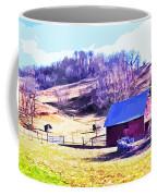 Old Barn In November Filtered Coffee Mug