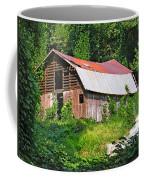 Old Barn Near Chimney Rock Coffee Mug
