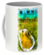 Old Bathtub Near Painted Barn Coffee Mug by Amy Cicconi