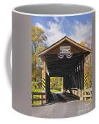 Old Bedford Village Covered Bridge Entrance Coffee Mug
