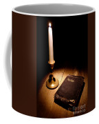 Old Bible And Candle Coffee Mug by Olivier Le Queinec