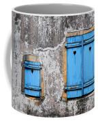 Old Blue Shutters Coffee Mug